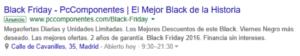 Ejemplo anuncio de Balck Friday