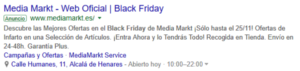 Ejemplo Black Friday Adwords